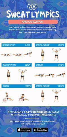 Sweatlympics Arm Challenge! | Kayla Itsines | Bloglovin'