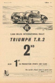 Triumph TR2 advertisement