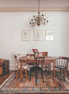 Get The Look: Vintage Farmhouse Chic Dining Room | The home of Daria Souvorova via Design*Sponge.