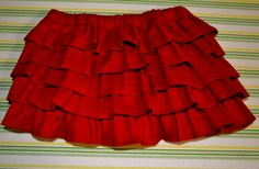 Ruffle Skirt tutorial - I think I'd like longer ruffles and since this is sized for a baby I'd need to make it longer for my girls.