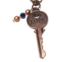 Ravenclaw Love Key Charm Necklace by MidnightHouseElves on Etsy