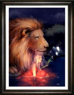 Lion and  Beauty Diamond Painting Kits, 5D DIY Embroidery Painting -Decorating Cabinet Table Sticker