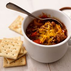 This is a great Game Day chili that can be prepared the day before and will feed a crowd!