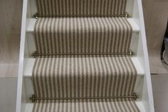 Boardwalk wool stair runner x Home Depot, Striped Carpets, Rug, Carpet Runner, The Hamptons, Stairs, Flooring, Stair Runners, Wool