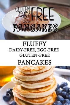 Keto Discover Fluffy Allergy-Friendly Pancake Recipe These allergy friendly pancakes are the perfect gluten-free dairy-free and egg-free pancakes the whole family will devour! Dairy Free Pancakes, Dairy Free Snacks, Dairy Free Breakfasts, Dairy Free Eggs, Dairy Free Diet, Egg Free Desserts, Gluten Free Crepes, Wheat Free Diet, Dairy Free Cookies