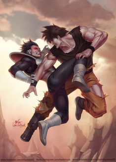 ArtStation - Songoku vs Vegeta, InHyuk Lee