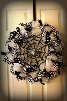 Escalofriante araña Deco malla guirnalda por DnLCustomCreations