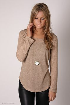 now and then long sleeve top - beige