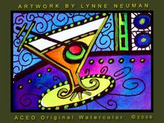 Lynne Neuman - Martini Glass...would look awesome by the bar
