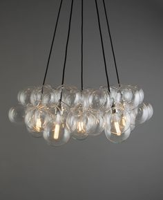 Wow how fabulous is this bubble chandelier ceiling light? It's just perfect for . - Wow how fabulous is this bubble chandelier ceiling light? It's just perfect for making a sophisticated statement in your interiors. Ceiling Chandelier, Chandelier Ceiling Lights, Bubble Chandelier, Chandelier Lighting, Lounge Lighting, Light Fittings Living Room, Glass Chandelier, Bedroom Ceiling Light, Ceiling Lights
