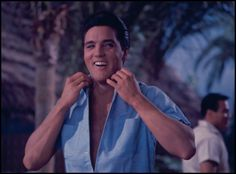 "Elvis on the Set of  ""Blue Hawaii"""