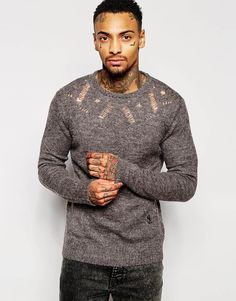 Religion+Knitted+Jumper+with+Yoke+Pattern