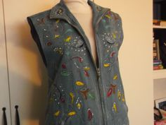 hand-made, painted vest