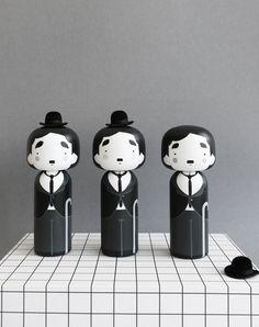 Charlie Chaplin Kokeshi Doll - sketchinc.bigcartel.com