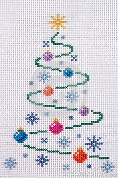 Images of Christmas Tree Cross Stitch - Home Design Ideas