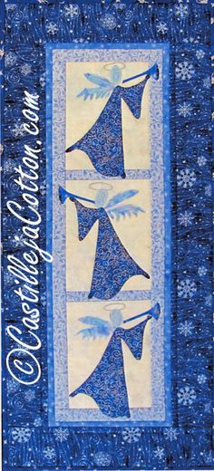 Christmas Angel Quilt Pattern Celestial by castillejacotton, $10.00