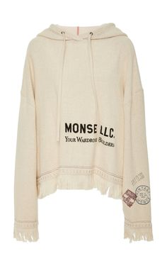 Monse Print Towel Hoodie by MONSE for Preorder on Moda Operandi Sporty Outfits, Cute Casual Outfits, Fashion Outfits, Zara Fashion, Jumpsuits For Women, Couture Fashion, Ideias Fashion, Dionysus, Hoodies