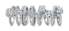 Matching Engagements and Bands. Check out Precision Set at Razny Jewelers
