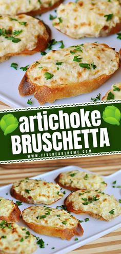 An easy recipe that you can adapt to any occasion! This creamy artichoke goodness is perfect for all your holiday entertaining needs. Whether spread on toasty baguette slices as bruschetta or baked up as a hot dip, it makes a fancy New Year party appetizer or snack!