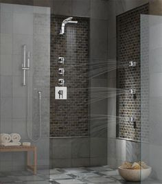 Relaxing Spa Showers for your Master Bathroom Renovation Spa Like Bathroom, Bathroom Renos, Master Bathroom, Bathroom Ideas, Master Shower, Chic Bathrooms, Bathroom Vanities, Bath Ideas, Bathroom Designs