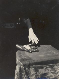 Claude Cahun, Hands and Table, 1936 Saint Helier, Man Ray, Cindy Sherman, Marcel Schwob, Anita Berber, Photomontage, Matt Hardy, Street Photography, Art Photography