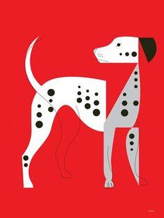 """Mod Dog Dalmatian"" canvas wall art by Eleanor Grosch for GreenBox Art + Culture"