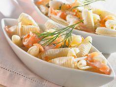 Découvrez la recette Pâtes au saumon et à l'aneth sur cuisineactuelle.fr.
