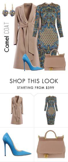 """Givenchy plus Camel Coat"" by arta13 ❤ liked on Polyvore featuring Bottega Veneta, Givenchy, Jimmy Choo, Dolce&Gabbana and Suzanne Kalan"