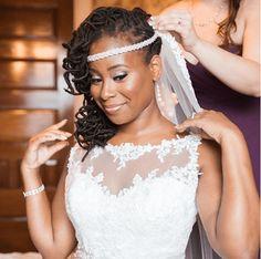 Lovely Natural Bride IG:@megapixelsmedia  #naturalhairmag #naturalhair