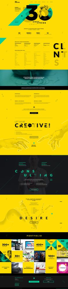 Pro Creation Website... *3색(포인트:민트) / 2,4단 그리드 / 상단 타이포그라피(걍약-분할:색,이미지,그림자)/산셰리프