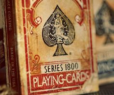 Give your poker nights a wild west feel to it by playing with the vintage playing cards. Each card in this unique deck is distressed in order to achieve a vintage look that'll make everyone think you picked them up at the general store in the year 1870.