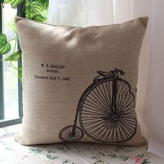 Penny Farthing, Cool Kids, Kids Room, Dorm Stuff, Bicycle, Cushions, Throw Pillows, House Interiors, Room Ideas