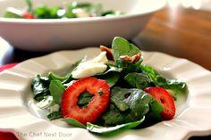 Spinach Strawberry Salad with Fresh Mozzarella