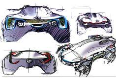 Volkswagen Sketches on Behance