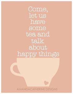 We love talking about happy things.