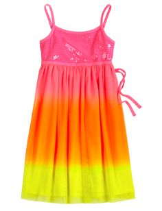 Neon Dip Dye Dress   Everyday   Dresses   Shop Justice $50.00