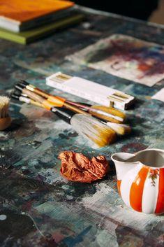 Studio Visit: Colleen Herman - DORÉ Artist Life, Morning Light, Your Paintings, Creative Art, Objects, Studio, Detail, Diy, Crafts