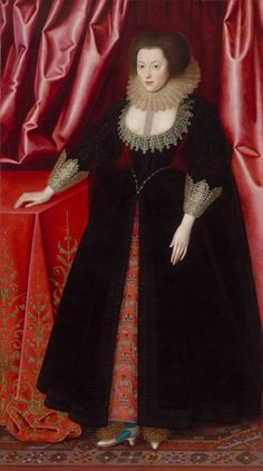 William larkin (1580–1619), Mary, Lady Vere, c 1615