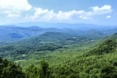 An amazing view of the Smoky Mountains