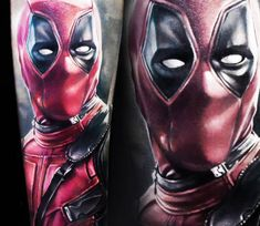 Deadpool tattoo by Alex Noir