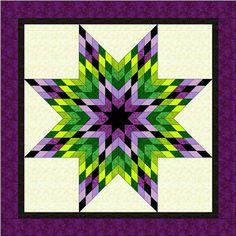 ROY-G-BIV Lone Star Quilt Pattern PDF Rainbow Star Quilt