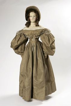 Fashionable dressed doll, 1835, Germany, V & A      Germany (made)  Date:    1835