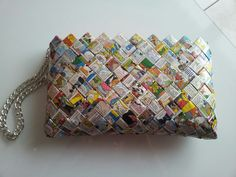 Bag - Candy wrapper bag Handmade with love