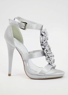 Silver Silver Heels, Sandals, Wedding, Shoes, Fashion, Slide Sandals, Valentines Day Weddings, Moda, Shoes Sandals