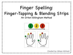 These finger spelling/finger tapping templates serve as an excellent support for teachers using Orton-Gillingham strategies! Students of all types can benefit from this tool! These templates allow a multi-sensory learning experience. Combining these templates with OG strategies, students are able to break apart words into syllables and sounds and spell with deeper accuracy.My students LOVED using their finger-tapping templates and blending strips!