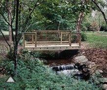 Building Driveway Bridge Atlanta Wood Bridges And Garden From Decking Fence