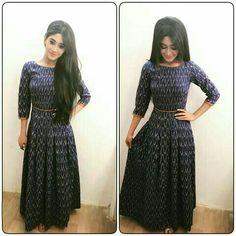 Indian Dresses, Indian Outfits, Ikkat Dresses, Casual Dresses, Fashion Dresses, Churidar Designs, Ethnic Dress, Traditional Fashion, Indian Designer Wear
