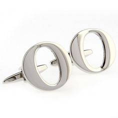 Silver Letter O Cufflinks