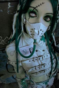 Medical fetish industrial cybergoth