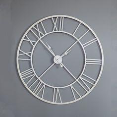 Large White Skeleton Wall Clock::New In::Windsor Browne®